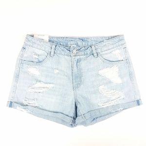 Womens H&M Regular Waist Distressed Shorts Size 10